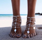 jewels,nail accessories,gold,beautifule,summer,home accessory,beautiful,jewelry,boho jewelry,foot jewelry,foot jewels,bracelet chains,beachy waves,beach,silver,instagram,girly,girl,girly wishlist,feet bracelet,socks,toe jewelry,toe,toe chain,chain,silver chain,silver jewelry,tan,trendy,free vibrationz,anklet
