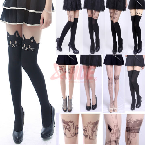 Sexy Fashion Pantyhose Design Pattern Printed Tattoo Stockings Tights Leggings | eBay