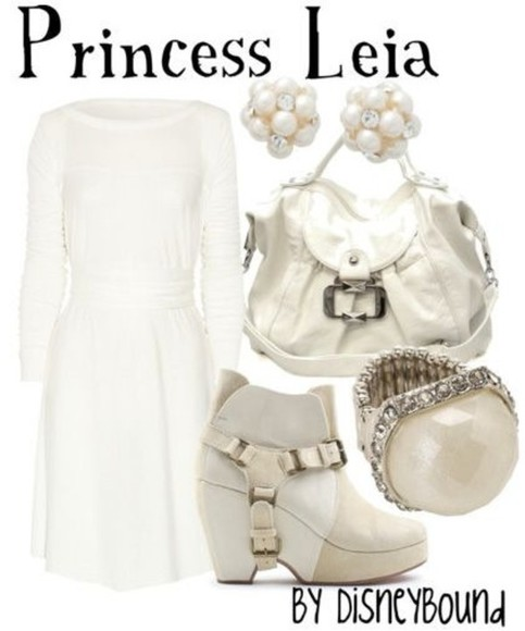 star wars dress disneybound white dress