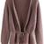 Purple Long Sleeve Drawstring Sweater Coat -SheIn(Sheinside)