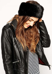 Fergie fur funnel hat