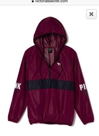 jacket coat pink victoria's secret spring coat red burgundy maroon/red maroon jacket cute black windbreaker victoria secret jacket pink jacket pink by victorias secret maroon pink windbreaker sweater vs anorak maroon/burgundy vs pink maroon anorak jacket s pink maroon anorak jacket marron hoodie
