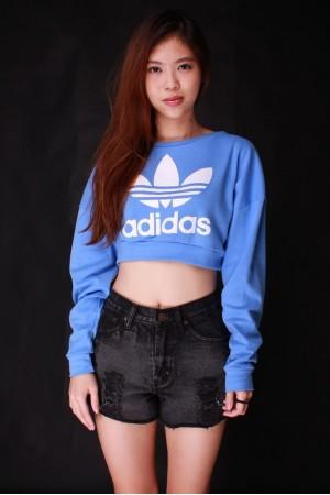 Adidas Crop Pullover (Blue) - BaDangDangs