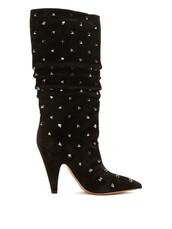 suede boots,suede,black,shoes