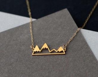 jewels gold mountain necklace minimalist jewelry