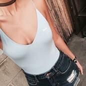 swimwear,light blue,babe inscription,one piece swimsuit