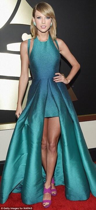 dress blue heels flawless taylor swift grammys 2015 blue dress sparkly dress sparkle cute cute dress red carpet dress red carpet chic fashion