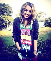 sweater,miley cyrus,beautiful,celebrity,cute,summer,shorts,hair,bracelets,fashion,clothes