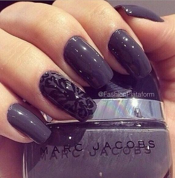 shiny nail polish black nail accessories floral nail sticker sticker tattoo art grey nail tattoo marc jacobs abstract abstract prints art, painting, dark grey