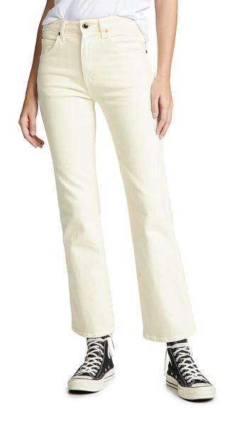 Khaite Vivian New Bootcut Flare Jeans in denim / ivory