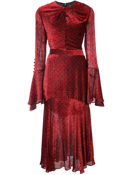Prabal Gurung dress women silk red