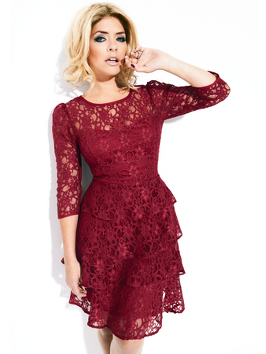 Holly willoughby tiered lace dress