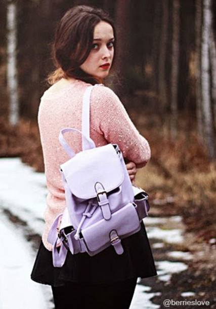 bag purple bag pink sweater winter sweater winter bag backpack