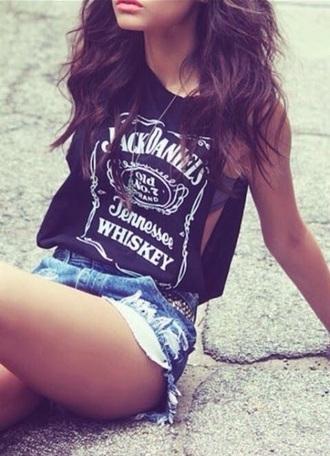 shirt jack daniels tank top black