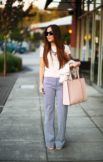 dress corilynn blogger pants tote bag pink bag