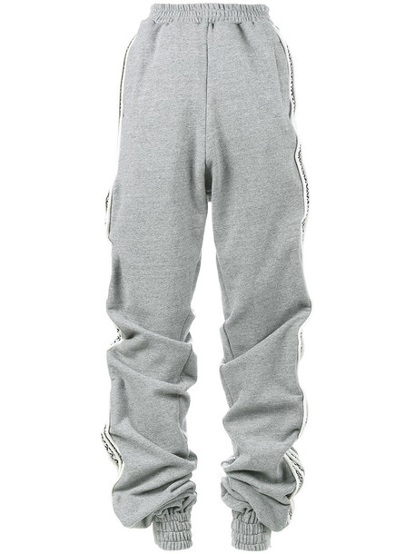 Y / Project - oversized cotton sweatpants - women - Cotton - XXS, Grey, Cotton
