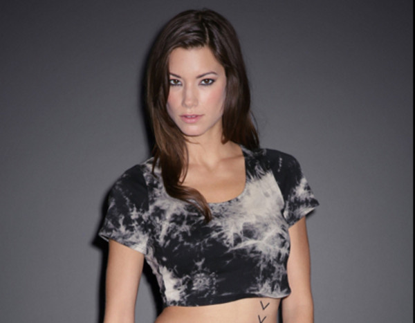 shirt tie dye black and white crop tops short sleeved