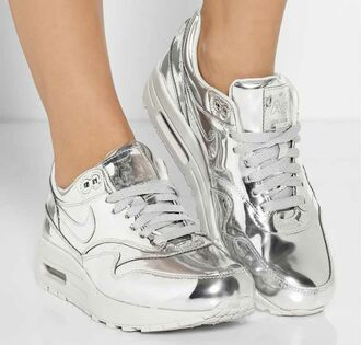 shoes sneakers metallic