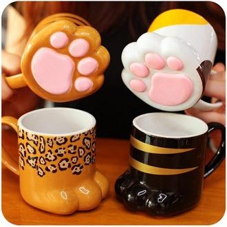 home accessory cats cute fashion style kawaii lovely paws mug animal print japanese