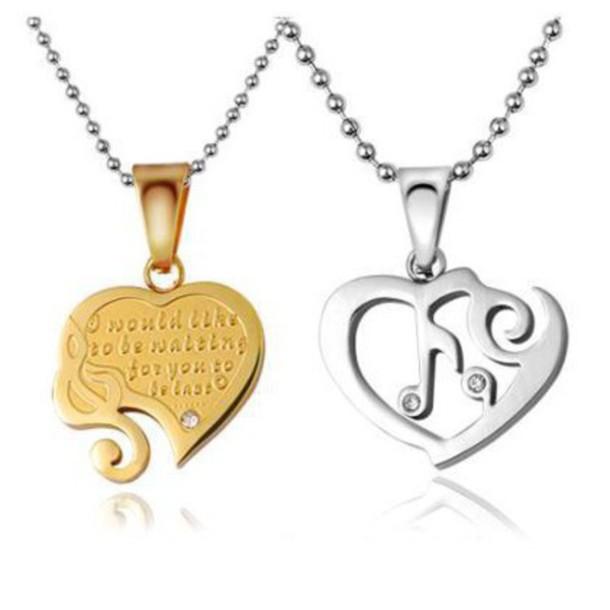 Broken Heart Couples Necklace Jewels Broken Heart Necklace