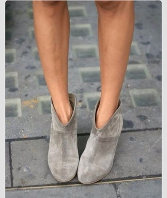 shoes grey suede booties booties grey shoes suede grey sea of shoes summer
