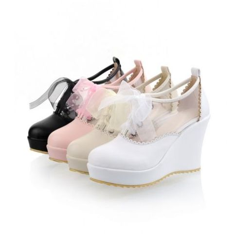Dolly Dynamite | Sweet Clear Wedges | Online Store Powered by Storenvy