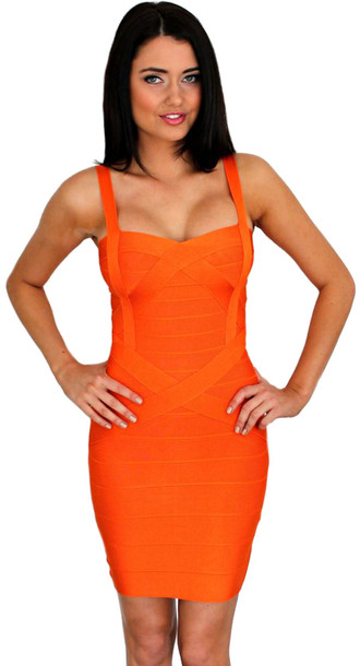 Dress Dream It Wear It Bandage Bandage Dress Orange Orange Dress Summer Summer Dress ...