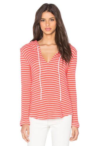 hoodie loose knit orange
