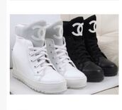 shoes,chanel,white,sneakers,wedge sneakers