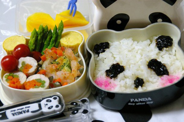 panda cup plate kawaii black and white home decor food dinnerware