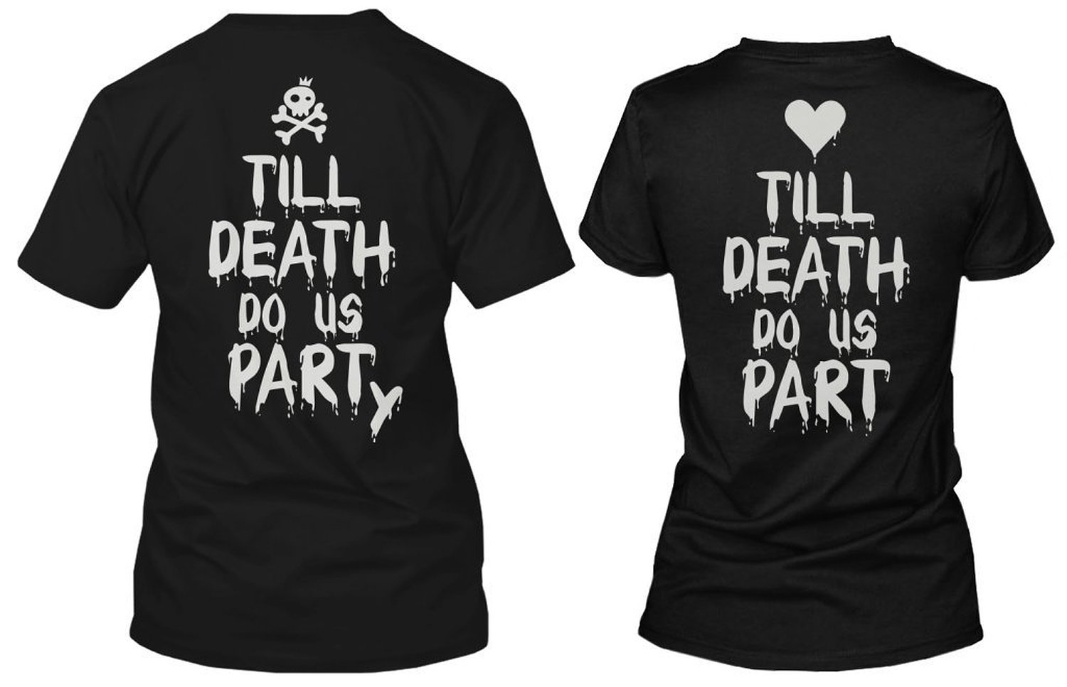 Amazon.com: Couple Shirts for Halloween - Till Death Do Us Part Party: Clothing