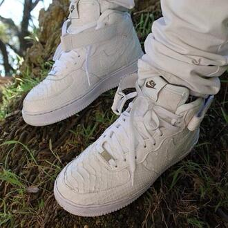 shoes nike white nike air force 1 python