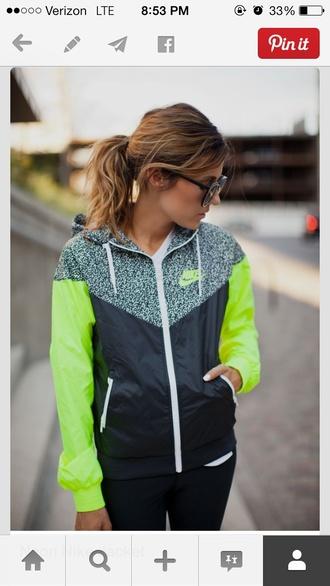 jacket nike nike jacket neon neon green green jacket green