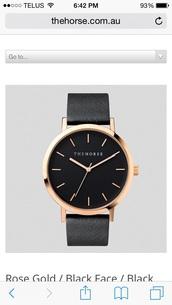 jewels,the horse,watch,jewelry,black watch,minimalist jewelry