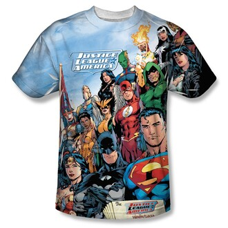t-shirt batman superman wonder woman the flash justice league comic shirt comics comic top
