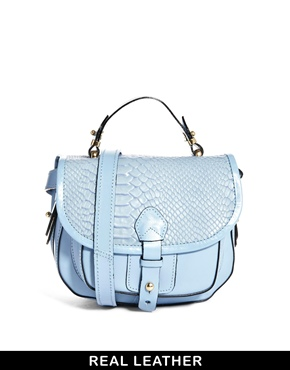 River Island | River Island Pastel Blue Mini Hunter Satchel at ASOS