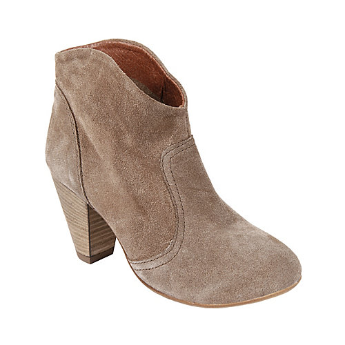 Pembrook taupe suede women's bootie mid casual