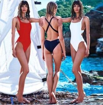 swimwear one piece low back swimsuit
