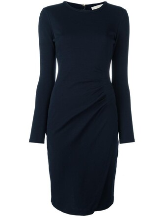 dress jersey dress women blue wool