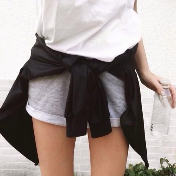 shorts short minimalist grey