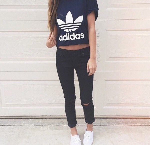 t-shirt adidas shirt black t-shirt shirt adidas wings shoes style high heels High waisted shorts blouse white t-shirt hat tank top top cute outfits