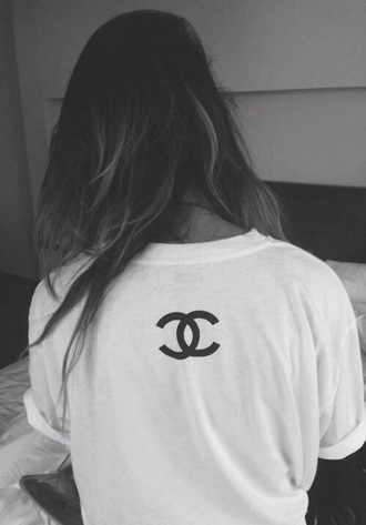 t-shirt chanel t-shirt white