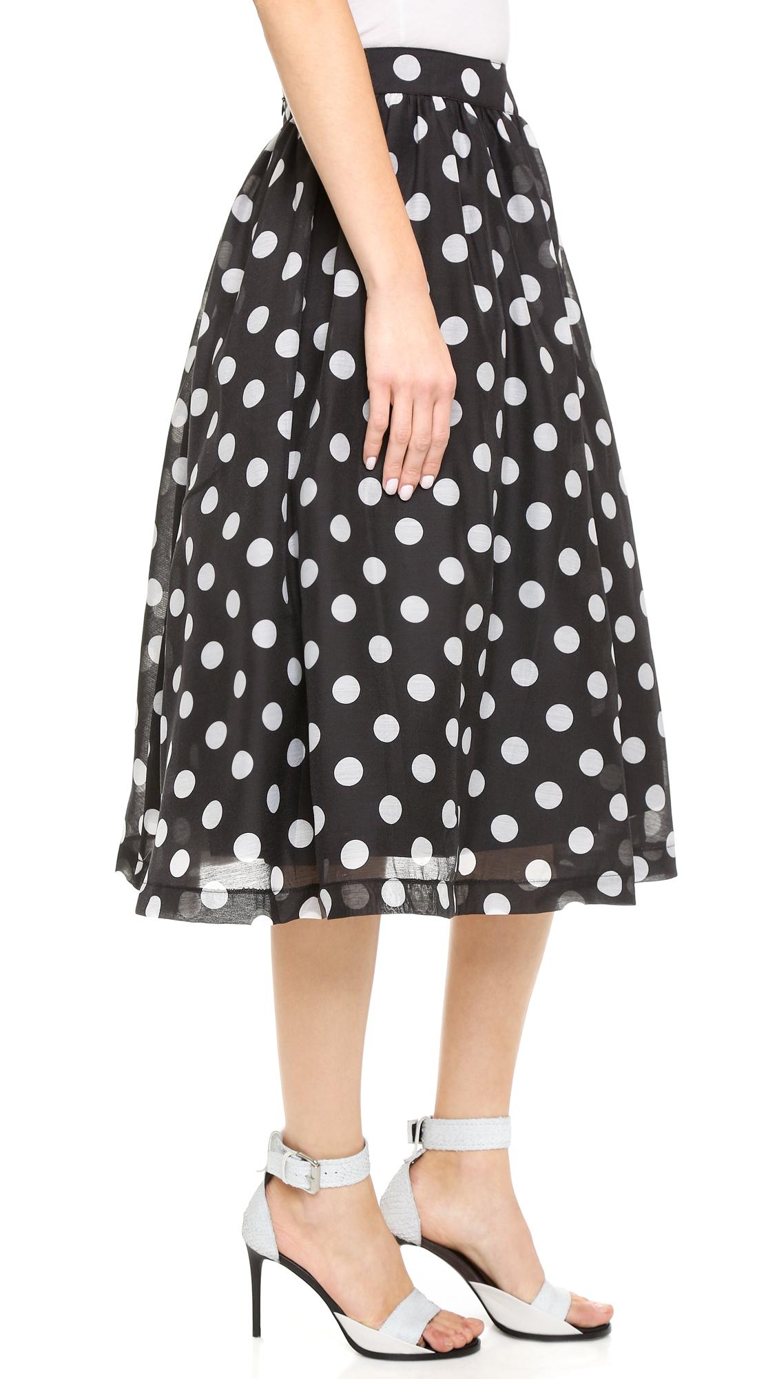 J.o.a. polka dot full skirt