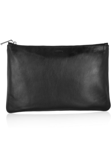 Jil Sander | Medium leather clutch | NET-A-PORTER.COM