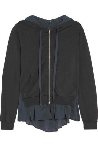 sweatshirt silk charcoal sweater