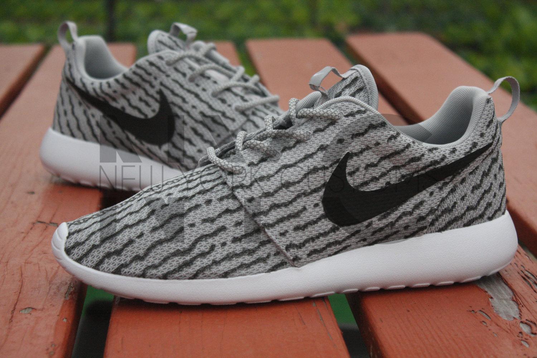 online store 0b561 6e29f Nike Roshe Run One Grey Yeezy Low 350 Boost Custom Men   Women Adidas 3M  Laces