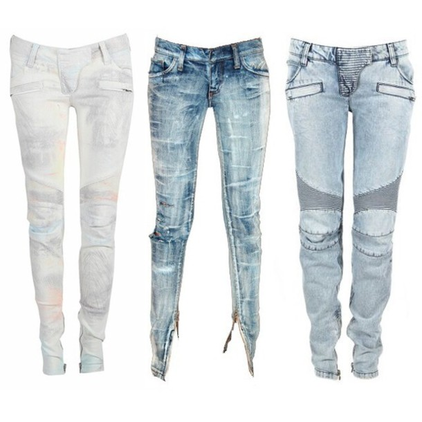 jeans denim stylish distress washed