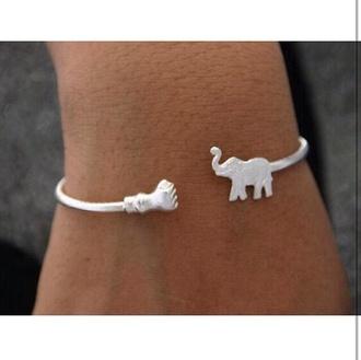 jewels elephant elephant bracelet urban outfitters jack wills.com hollister primark topshop topman ebay