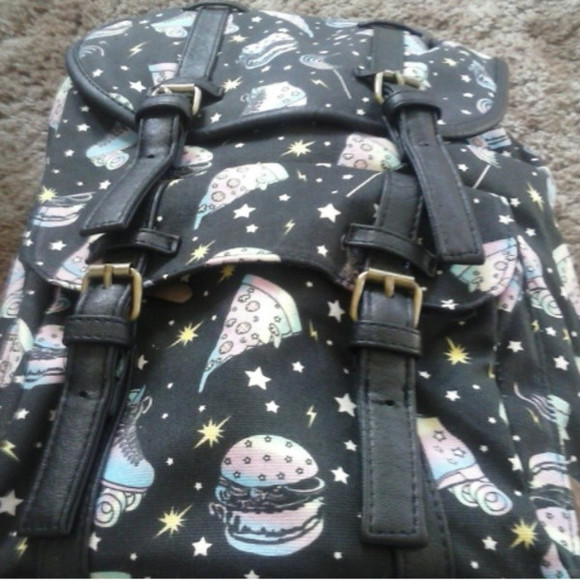 hamburger pizza bag pizza backpack backpack grunge grunge bag