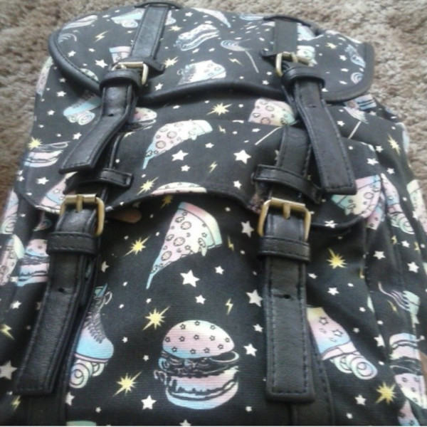 bag pizza backpack backpack grunge grunge bag pizza hamburger